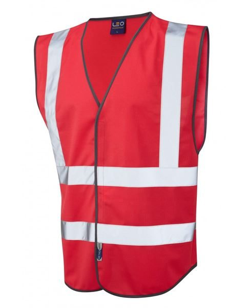 High Visibility Waistcoat Red