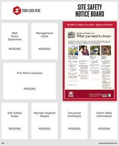 1000mm x 1220mm Safety Notice Board
