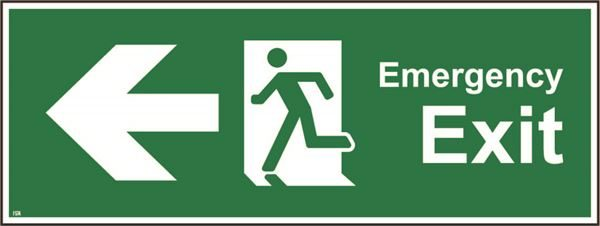 400mm x 150mm Emergency exit Left