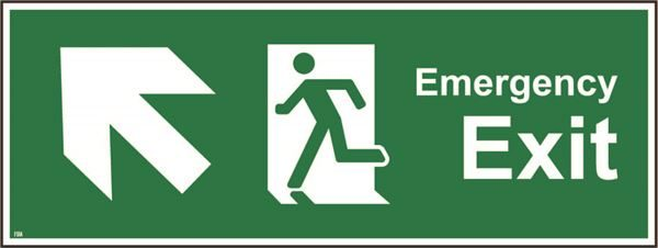 400mm x 150mm Emergency exit up left