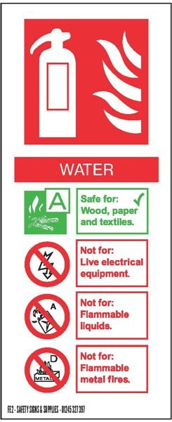 FE2 82 X 202 WATER ID SIGN
