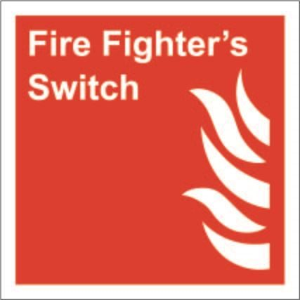 150mm x 150mm Fire Fighters Switch