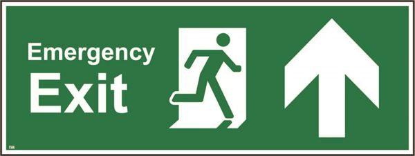 400mm x 150mm Emergency exit up