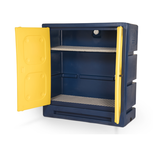 Durable plastic chemical cabinet 1220x550x1310