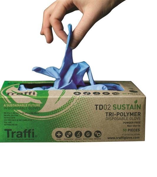 Biodegradable Disposable Glove Box of 100