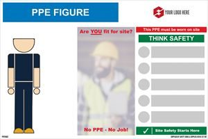 1800mm x 1200mm PPE Figure sign