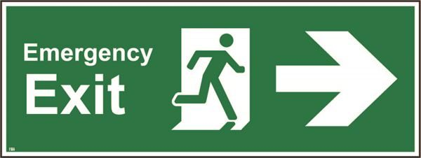400mm x 150mm Emergency exit right