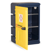 Durable plastic chemical cabinet 575x440x910
