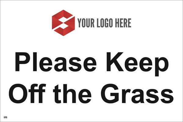 300mm x 200mm Please Keep Off the Grass