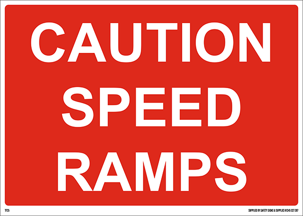 1050mm x 750mm Caution Speed Ramps