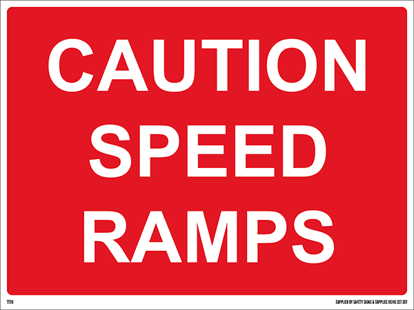 600mm x 450mm Caution Speed Ramps