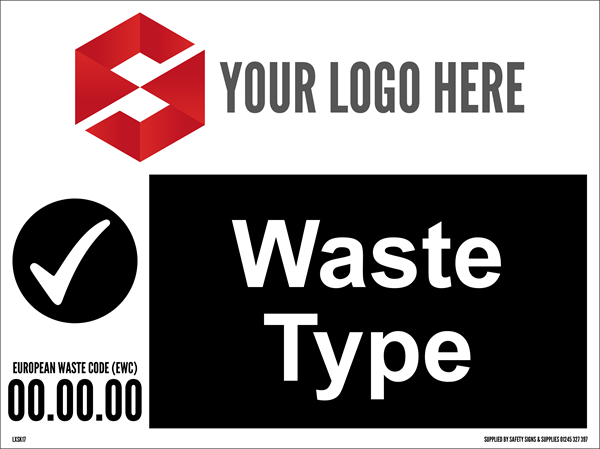 600MM X 450MM Waste Type Sign