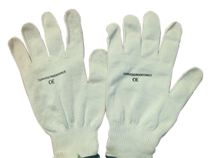 Tornado Rockforce Yellow Knitted Gloves Size 10