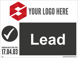 600MM X 450MM Lead Waste Sign